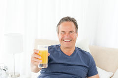 Retired man looking at the camera Stock Photos