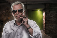 Retired man with strong personality Stock Image