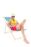 Retired man on vacation Royalty Free Stock Photos