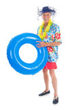 Retired man on vacation Royalty Free Stock Image