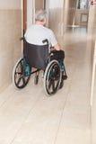Retired Man on Wheelchair Royalty Free Stock Photos