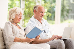 Retired man and woman Stock Images