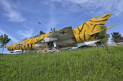 Retired MiG-21 jet fighter of the Luftwaffe Royalty Free Stock Photography