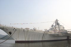 Retired Minsk aircraft carrier Stock Photography