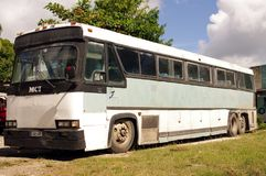 Retired old MCI bus Stock Images