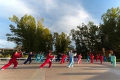 Free Retired People Playing Taiji Royalty Free Stock Photo - 172577605