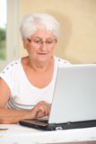 Retired people and technology Royalty Free Stock Photo
