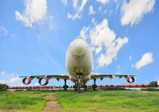 Retired plane in Thailand Stock Photo