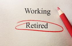 Retired red circle Royalty Free Stock Photo