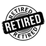 Retired rubber stamp Stock Images