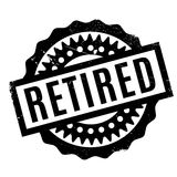 Retired rubber stamp Royalty Free Stock Photo