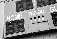 Retired Scoreboard. Old score board from closed sports field. From days gone by Royalty Free Stock Image