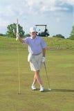 Retired, Senior Golfer Royalty Free Stock Photo