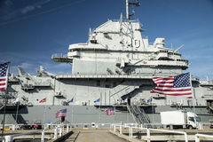 Retired Ship USS Yorktown on display. Stock Photography