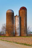 Retired Silos Trio Royalty Free Stock Photo