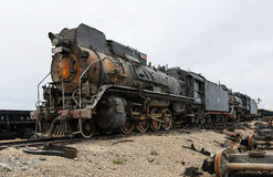 Retired steam locomotive Royalty Free Stock Photos