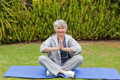 Retired woman Stock Images