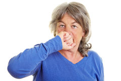 Retired woman falling silent royalty free stock images