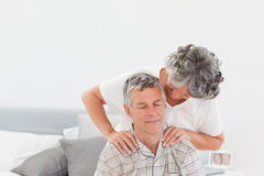 Retired woman giving a massage Royalty Free Stock Photos