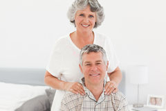 Retired woman giving a massage Stock Images