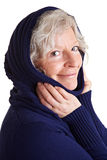 Retired woman with hood Stock Photography