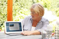 Retired woman royalty free stock photography