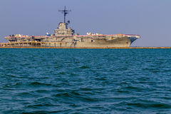 The Retired WWII Aircraft Carrier USS Lexington Royalty Free Stock Images