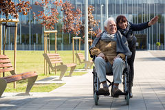 Free Retiree Sitting In A Wheelchair Royalty Free Stock Photos - 71516448