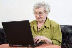 Free Retiree With Laptop Royalty Free Stock Photo - 5621085