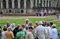 Retirees in the Dresden Zwinger Gallery Stock Photography