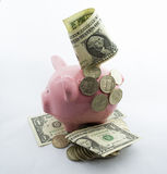 Retirees Retirement coins Account for holidays (dollar) Royalty Free Stock Images