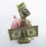 Retirees Retirement coins Account for holidays (one dollar) Stock Photography