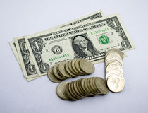 Retirees Retirement coins Account for holidays Stock Image