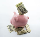Retirees Retirement Piggy Bank Account for   holidays Stock Photo