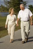 Retirement. Happy senior couple walking in a park Stock Photography