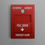 Retirement Accounts Alarm Stock Photo