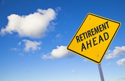 Retirement ahead Road Sign Stock Image