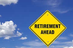 Retirement Ahead Sign Stock Images