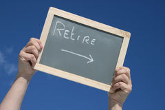 Retirement around the corner Royalty Free Stock Photography