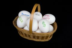 Retirement basket Stock Photography