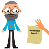 Retirement benefits Royalty Free Stock Photos