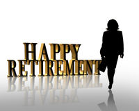 Retirement Business woman 3D graphic Stock Photos