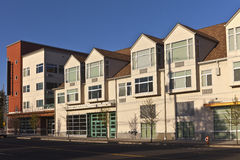 Retirement community building in East Portland OR. stock images
