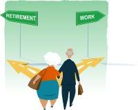 Retirement dilemma Royalty Free Stock Photography