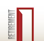 Retirement door open illustration design Royalty Free Stock Image