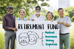 Retirement Financial Plan Risk Assessment Senior Concept. Retirement Financial Plan Risk Assessment Senior Royalty Free Stock Photos