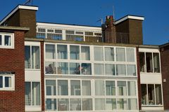 Retirement flats by the seaside Stock Image