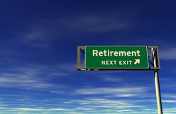 Retirement - Freeway Exit Sign Royalty Free Stock Photography