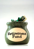 Retirement Fund. With a bundle of U.S. dollars Royalty Free Stock Photography
