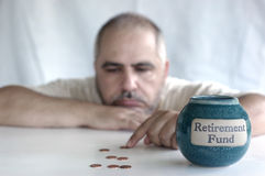 Retirement fund bankrupt Royalty Free Stock Photos